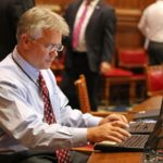 Rep. John Shaban working in the House during a special session on Sept. 28. (Christine Stuart photo)