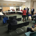 Mayor Harry Rilling's latest Mayor's Night Out gets started Tuesday in the South Norwalk library community room.