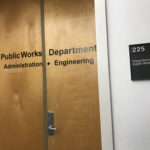 """The Norwalk Department of Public Works, no without a """"staff only"""" sign."""