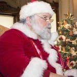 Santa Claus at Lockwood Mathews Mansion Musuem.