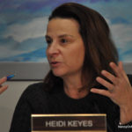 Norwalk Board of Education Policy Committee Chairwoman Heidi Keyes, at Tuesday's meeting in City Hall.
