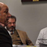 From left, Zoning Commissioners Joseph Passero, Richard Roina and Louis Schulman, Thursday in City Hall.