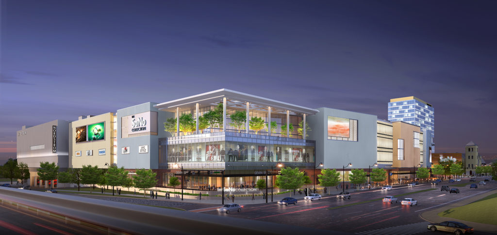 A rendering of The SoNo Collection. (Courtesy General Growth Partners.)