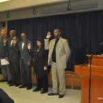 Norwalk Branch NAACP officers are sworn in Thursday by Connecticut State NAACP President Scot Esdaile.