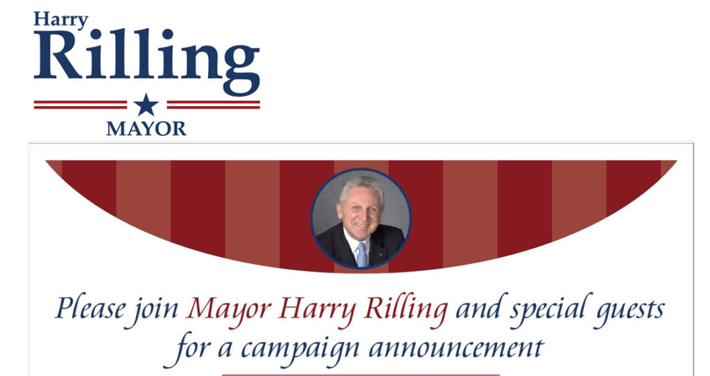 An image from an email sent out by Mayor Harry Rilling on Sunday.