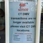 A sign at AAA. (Jack Kramer/CTNewsJunkie)