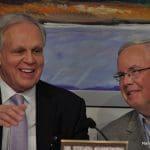 Norwalk Superintendent of Schools Steven Adamowski, left; Board of Education Chairman Mike Lyons, right.
