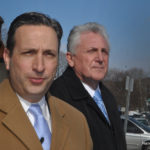 State Senate Majority Leader Bob Duff (D-25),  center, and Mayor Harry Rilling, right, on Monday alert parents to the facts that the Board of Education's facilities improvement plan would not fix most Norwalk schools for years.