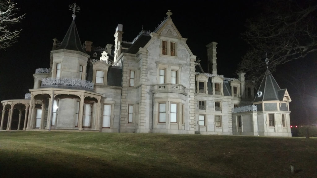 The Lockwood Mathews Mansion, with new LED lighting. (Contributed photo)