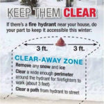 The Norwalk Fire Department would like to help maintain access to fire hydrants.