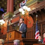 Gov. Dannel P. Malloy delivers his budget address Wednesday. (Photo by Christine Stuart/CTNewsJunkie)