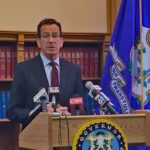 Gov. Malloy speaks with reporters at the state Capitol in Hartford on Friday. (Jack Kramer/CTNewsJunkie)