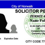 Norwalk's new ID badge for approved solicitors. (Courtesy Norwalk Police)