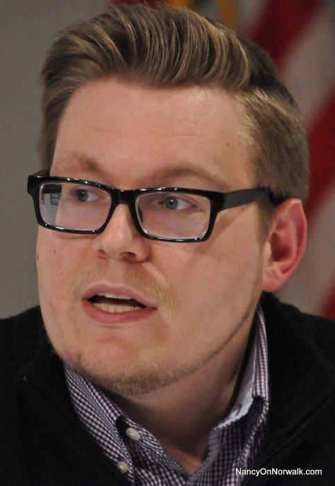 Norwalk Board of Education member Erik Anderson.