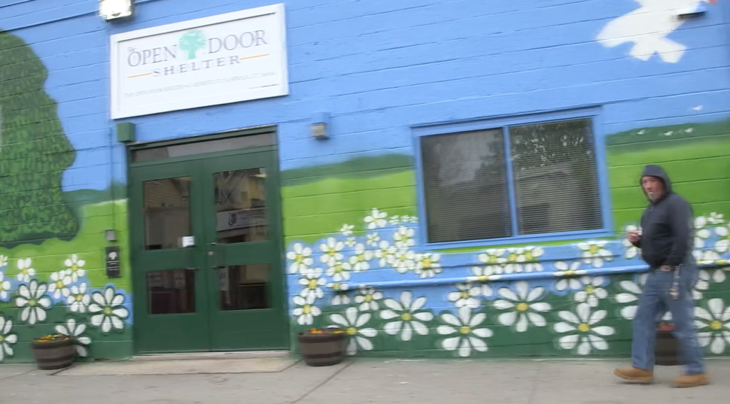 A screengrab from a video on the Open Door Shelter's website.