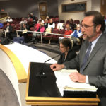 Michael Galante of Frederick P. Clarke Associates speaks to the Norwalk Zoning Commission on Wednesday in City Hall.