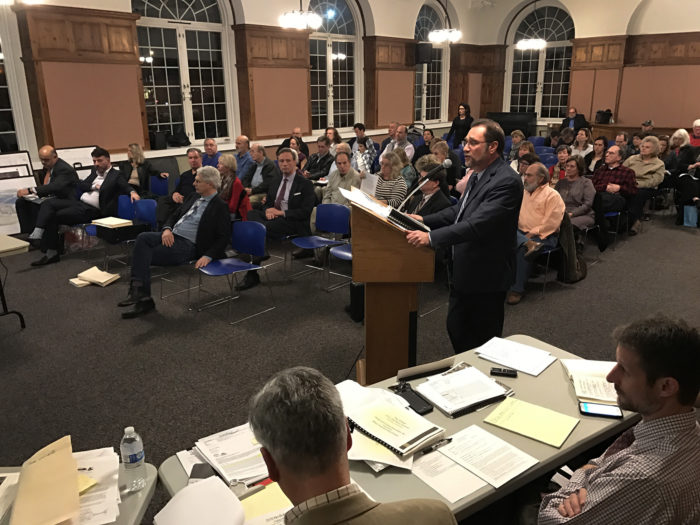 Traffic engineer Michael Galante speaks to the Norwalk Zoning Commission, Wednesday in City Hall.