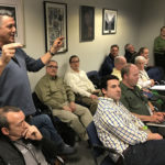 Vincent Palumbo, left, expresses his opinion Tuesday in Norwalk City Hall.