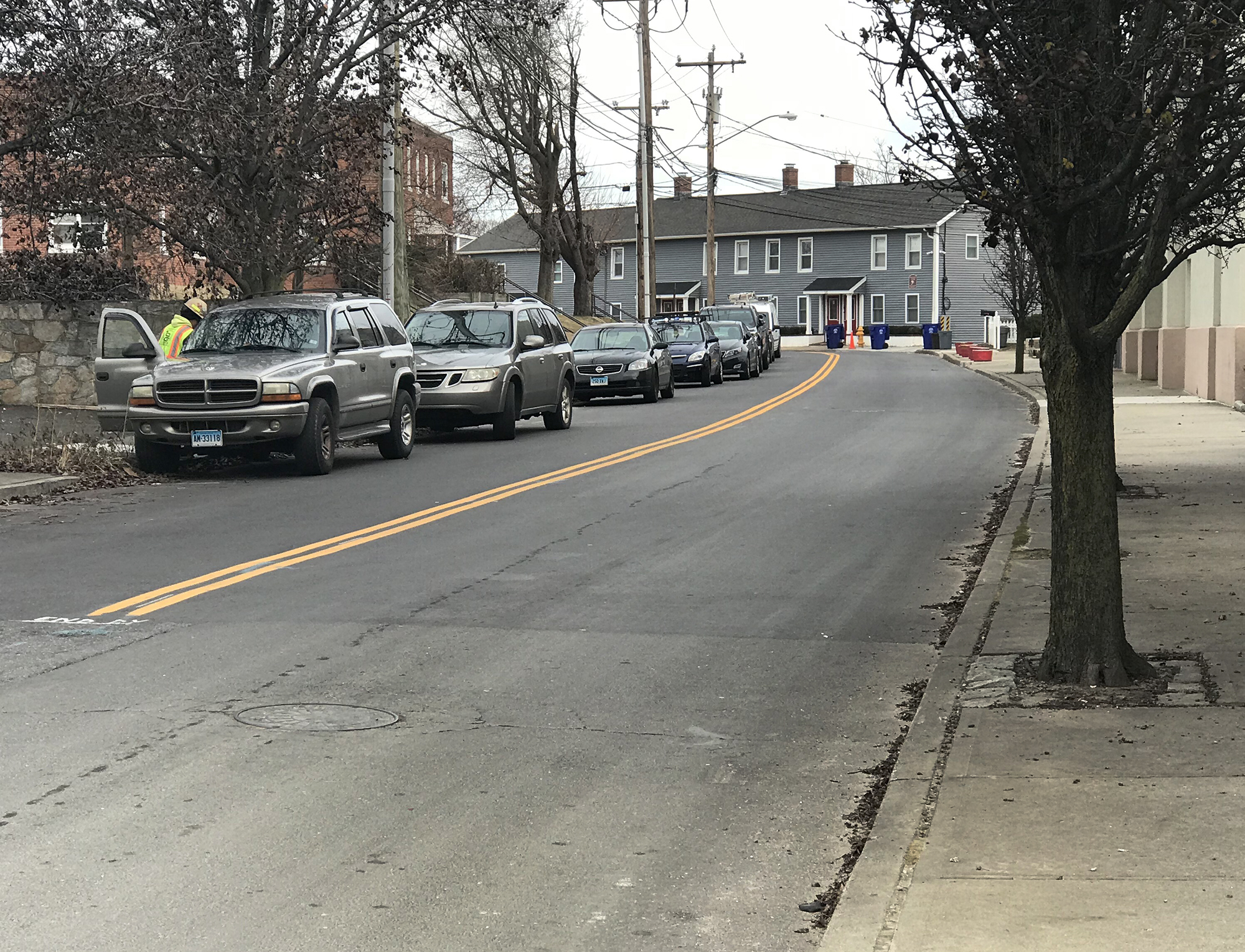 SoNo Collection construction progress nets problem on nearby street